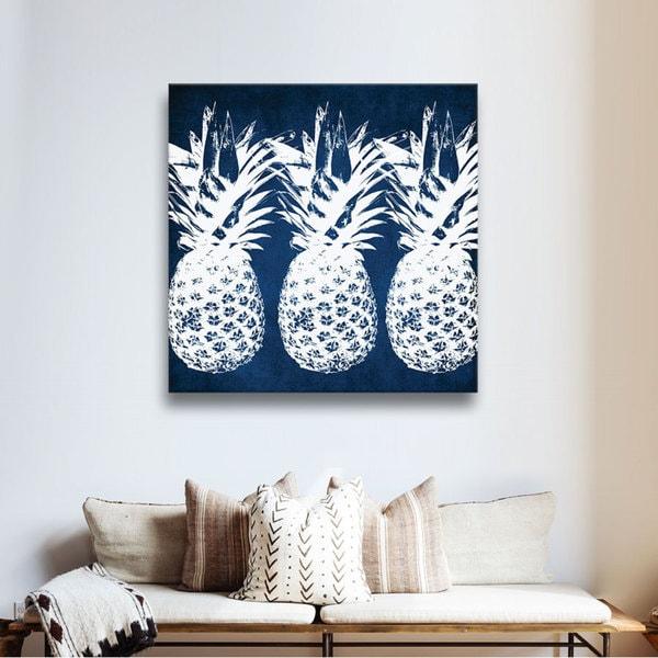 Trend Shake 40 Indigo Home Décor Ideas: Shop ArtWall Linda Woods's Indigo Pineapple, Gallery