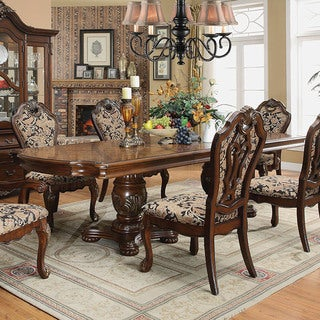 Furniture of America Mallory Formal Cherry Expandable Dining Table