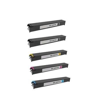 1Set + 1BK Compatible MX-36NTBA MX-36NTCA MX-36NTMA MX-36NTYA Toner Cartridge For Sharp MX 2610 2610N 2615 2640N ( Pack of 5 )