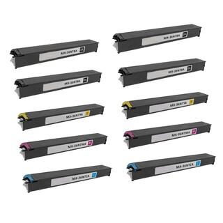 2Set + 2BK Compatible MX-36NTBA MX-36NTCA MX-36NTMA MX-36NTYA Toner Cartridge For Sharp MX 2610 2610N 2615 2640N ( Pack of 10 )