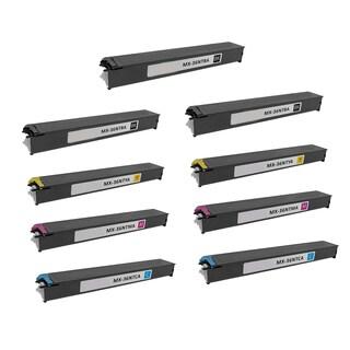 2Set + 1BK Compatible MX-36NTBA MX-36NTCA MX-36NTMA MX-36NTYA Toner Cartridge For Sharp MX 2610 2610N 2615 2640N ( Pack of 9 )