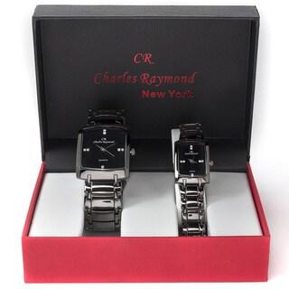 Charles Raymond His & Hers 1776 Gunmetal Tone Watch Set