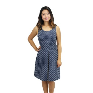 Relsihed Women's Dotted Lockets Dress