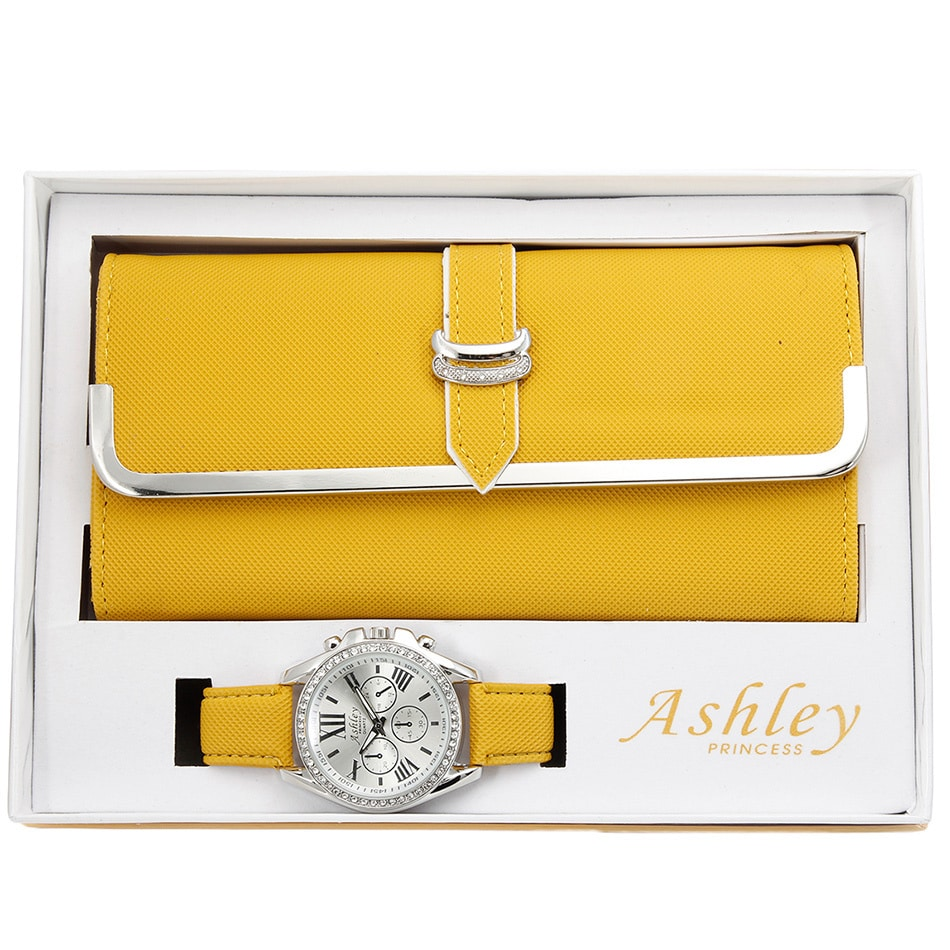 Ashley Princess Women's Faux Leather Stainless Steel Wall...