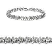 Malaika 14k White Gold over Silver 1 7/8ct TDW Diamond Bracelet (I-J, I2-I3)