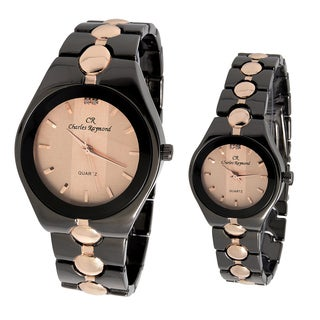 Charles Raymond His and Hers 727 Rose Gold Tone Watch Set