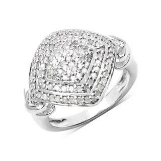 Olivia Leone Sterling Silver 1/2ct TDW White Diamond Ring (I-J, I2-I3)