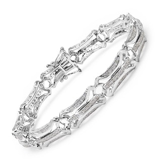 Malaika 14k White Gold over Silver 1ct TDW Diamond Bracelet (I-J, I2-I3)