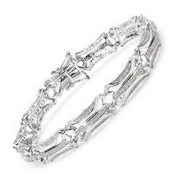 Malaika 14k White Gold over Silver 1ct TDW Diamond Bracelet