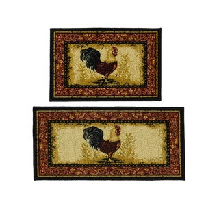 Rooster 2-piece Rug Set