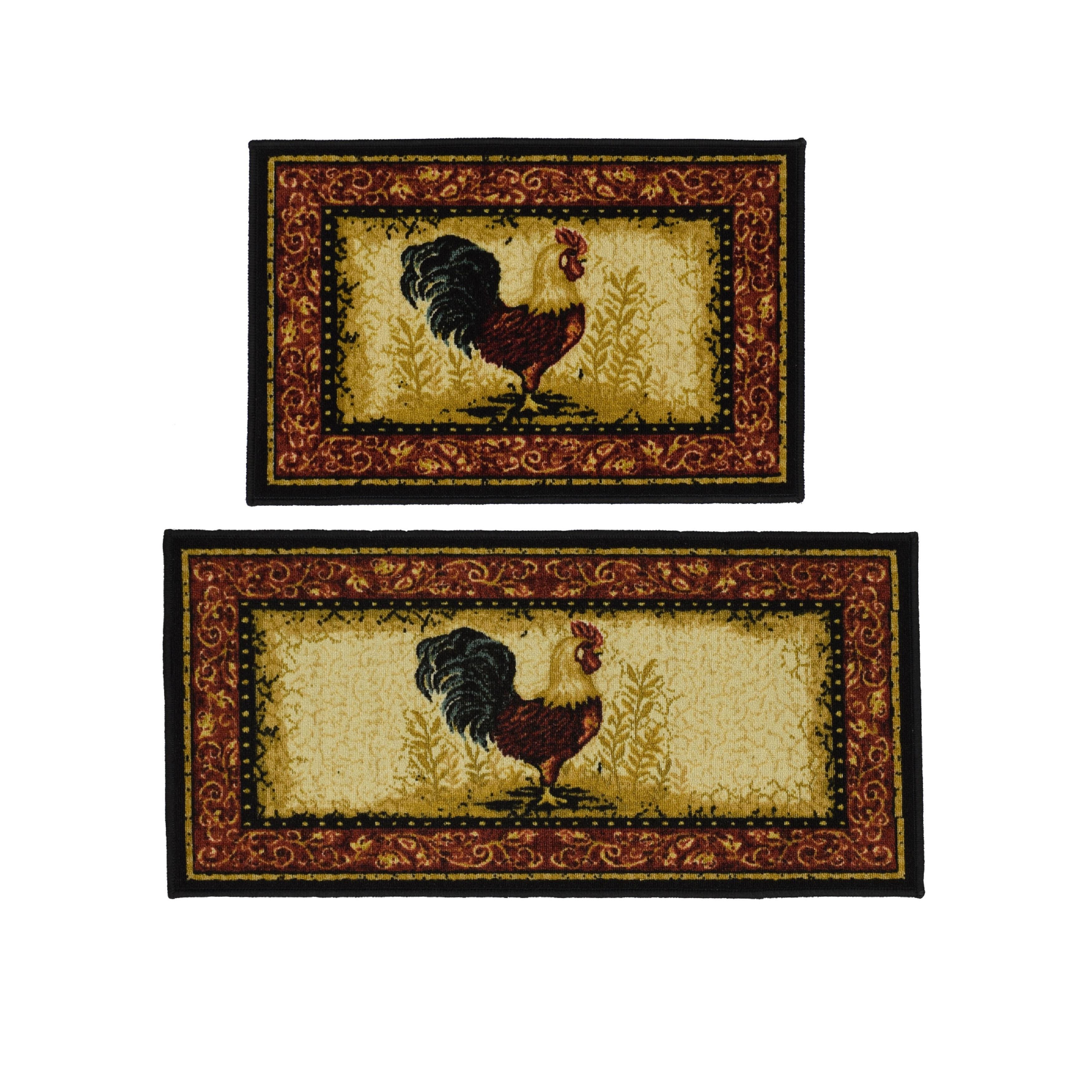 Shop Rooster 2 Piece Rug Set 20 X 40 Overstock 11070487