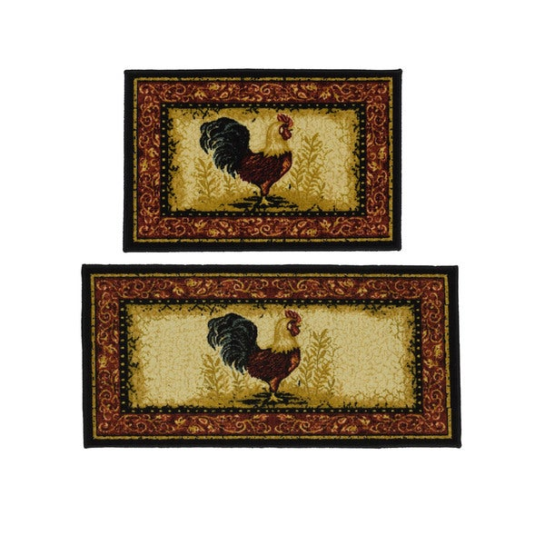 Shop Rooster 2 Piece Rug Set Multi 20 X 40 Free Shipping On