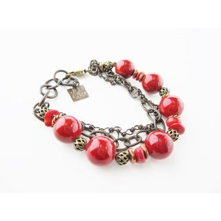Lady in Red Chain Medley Bracelet