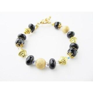 Black with Gold Bracelet