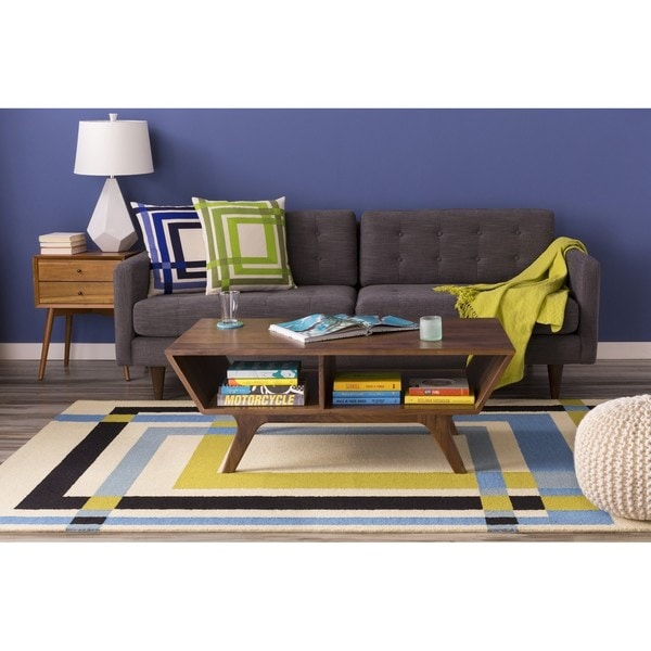 Hand Tufted Thaxted Wool/Cotton Area Rug