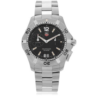 Tag Heuer 'Aquaracer' WAF111Z.BA0801 Men's Stainless Steel Round Textured Bezel Watch