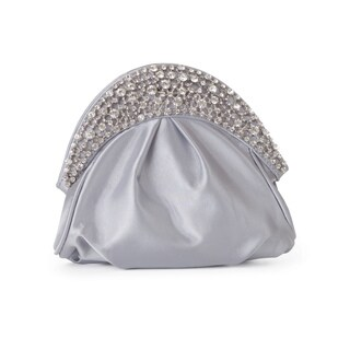 J. Furmani Bejeweled Half-moon Clutch