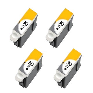 4 Pack Kodak 1550532 #30XL Black Compatible Ink Cartridge for Kodak Hero 3.1 5.1 (Pack of 4)
