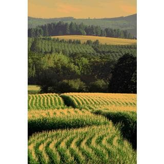 Marmont Hill - Corn Rows Painting Print on Canvas