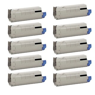 10PK 44318604 Compatible Toner Cartridge for Oki C711 C711N C711DN C711DTN (Pack of 10) - Black