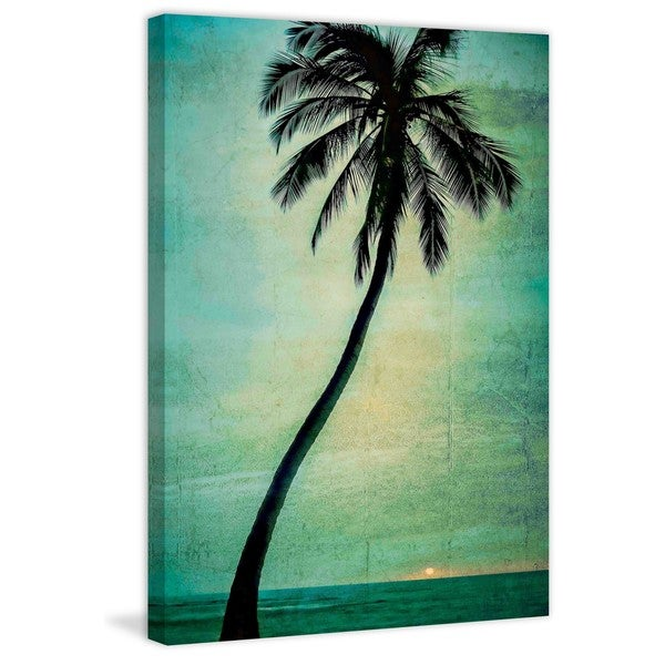 Marmont Hill - Lone Palm Painting Print on Canvas - Multi-color