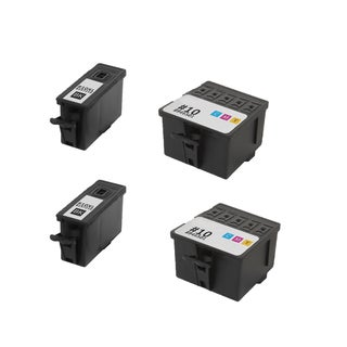 2Set Kodak 8237216 #10XL Black 8946501 #10 Color Compatible Ink Cartridge for Kodak Hero 6.1 7.1 9.1 (Pack of 4)