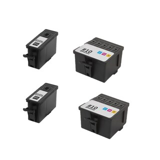 2Set Kodak 8237216 #10XL Black 8946501 #10 Color Compatible Ink Cartridge for Kodak Hero 6.1 7.1 9.1 (Pack of 4)