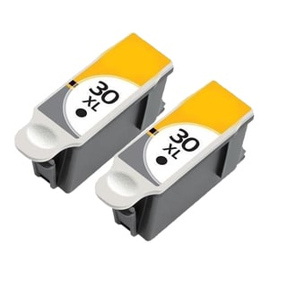 2 Pack Kodak 1550532 #30XL Black Compatible Ink Cartridge for Kodak Hero 3.1 5.1 (Pack of 2)