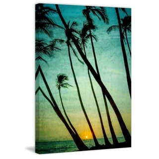 Marmont Hill - Tilting Palms Painting Print on Canvas