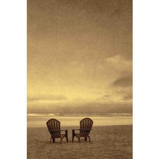 Marmont Hill - Two Beach Chairs Painting Print on Canvas