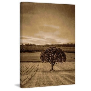 Marmont Hill - Lone Tree at Sunset Painting Print on Canvas