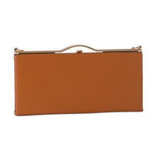 J. Furmani Faux Leather Box Clutch