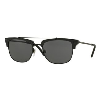 Burberry Men's BE4202Q Black Plastic Square Sunglasses
