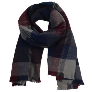 LA77 Multicolored 'Heritage Plaid' Scarf