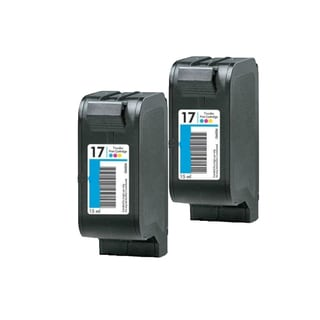 2 Pack HP C6625A C6625D #17 Compatible Ink Cartridge for HP Deskjet 825 840 841 842 843 845 (Pack of 2)