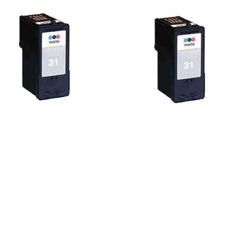 2 Pack Lexmark 18C0031 #31 Compatible Ink Cartridge for Lexmark X2500 X2600 Z1300 Z1410 (Pack of 2)