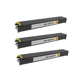 3PK Compatible MX-36NTYA Toner Cartridge for Sharp MX 2610 2610N 2615 2640N 3110N 3115N 3140N 3610N (Pack of 3)