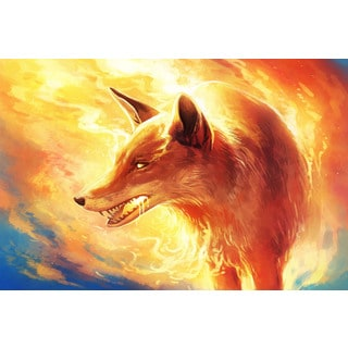 Marmont Hill - Fire Fox Painting Print on Canvas