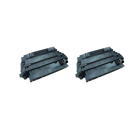 2PK CE255A Compatible Toner Cartridge for HP P3011 P3015 P3015D P3015DN P3015X (Pack of 2)