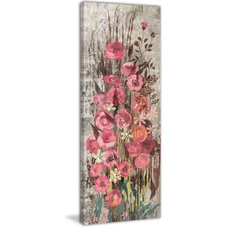 Marmont Hill - Floral Frenzy Pink IV Painting Print on Canvas
