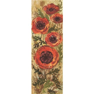 Marmont Hill - Floral Frenzy Red I Painting Print on Canvas