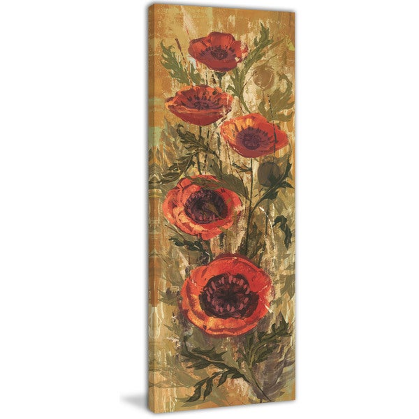 Marmont Hill - Floral Frenzy Red II Painting Print on Canvas