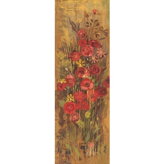 Marmont Hill - Floral Frenzy Red III Painting Print on Canvas