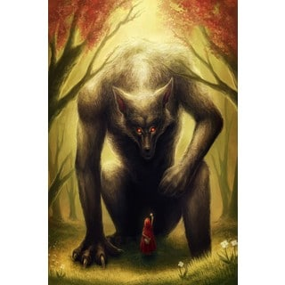 Marmont Hill - Little Red Riding Hood Painting Print on Canvas