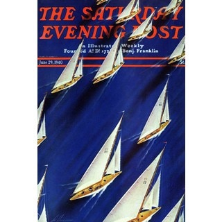 Marmont Hill - Saturday Evening Post 1940 Painting Print on Canvas