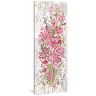 Marmont Hill - Floral Frenzy Soft Pink II Painting Print on Canvas