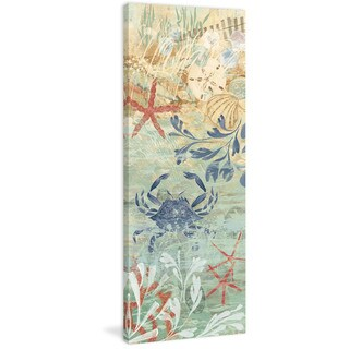 Marmont Hill - Floral Frenzy Coastal VII Painting Print on Canvas