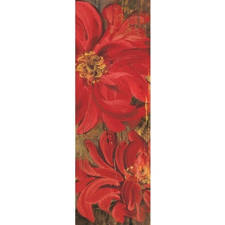 Marmont Hill - Floral Frenzy Red V Painting Print on Canvas