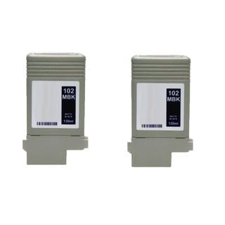 2PK PFI-102MBK Compatible Ink Cartridge for Canon ImagePROGRAF iPF 500 510 600 610 710 720 (Pack of 2)