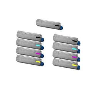 2Set + 1BK 44059216 44059215 44059214 44059213 Compatible Toner Cartridge for Oki MC860 MC860 MFP (Pack of 9)